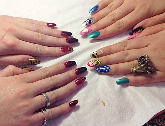Iggy Azalea's nanny inspired nail art by Fleury Rose