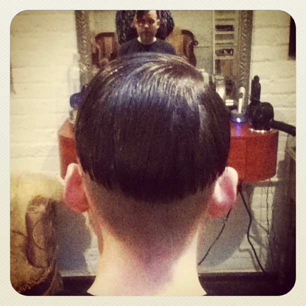 undercut done by Donna Rae Williams at Tomahawk