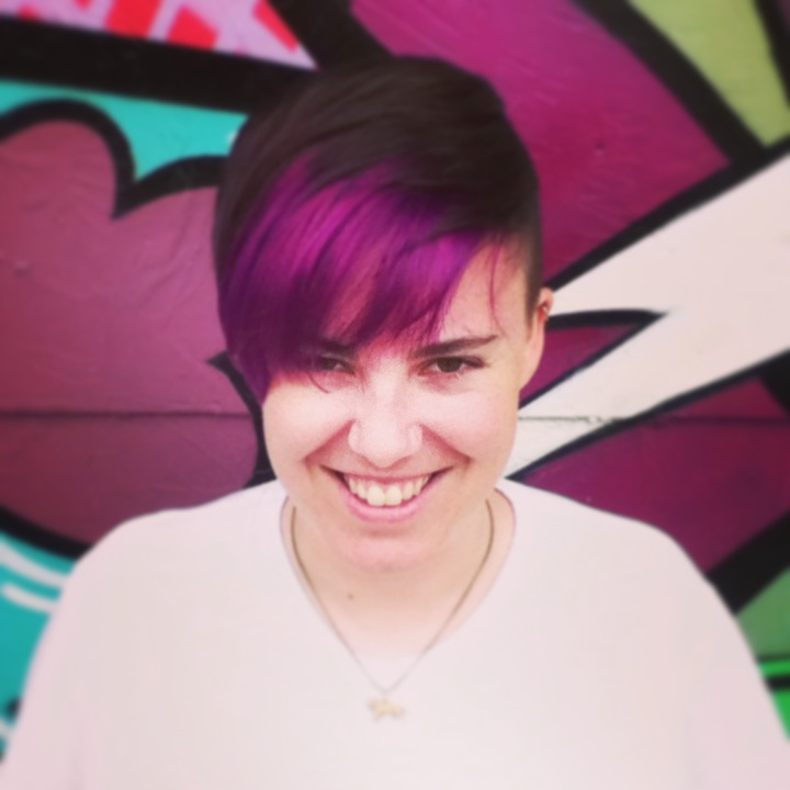 Violet panel cut and color by Donna Rae Williams