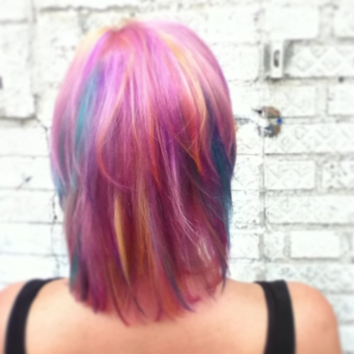 Full head of colorful Hi-lites Color By Kristin Jackson
