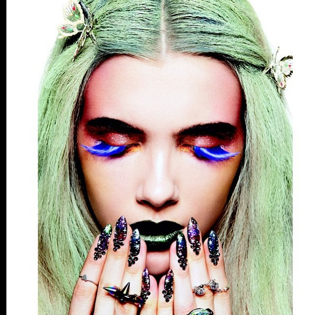 In October Nylon Magazine Nails by Fleury Rose