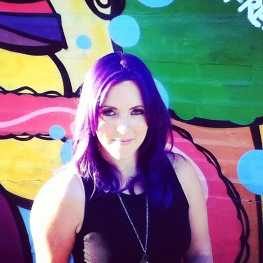 All Over Purple 2 Tones were used to achieve this ultraviolet By Kristin Jackson