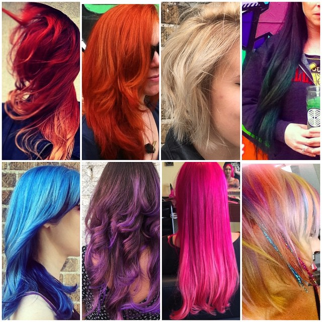 Lovewins marriage equality rainbow hair collage all done by Kristin Jackson
