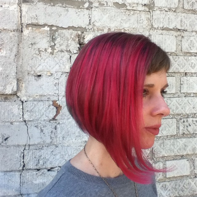 Wild Bordeaux Color and Cut by Donna Rae