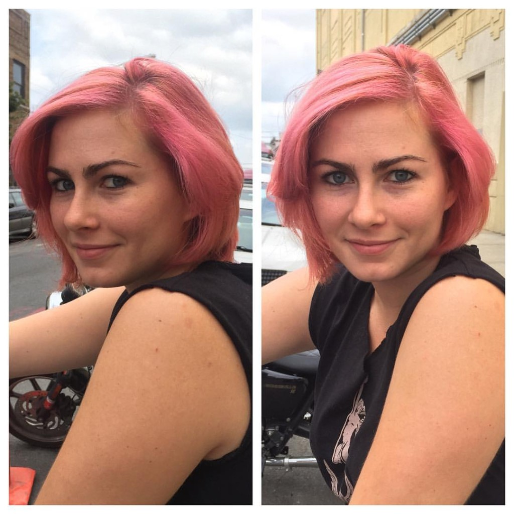 Cut and Color by Kristin Jackson Full Head Balayage in a Dusty Pink