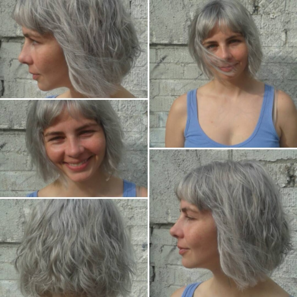 Donna Rae took this client to a silvery/sterling blonde