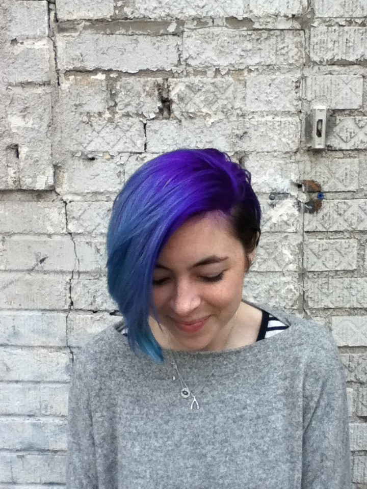 Cut and Color By Donna Rae melted purple and blue into turquoise