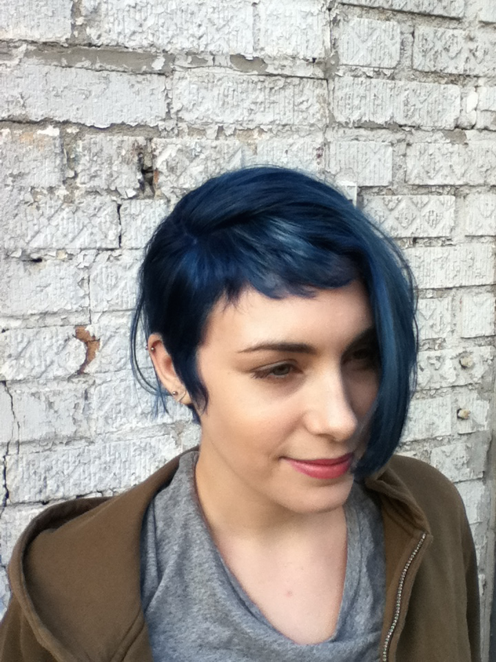 Cut and Color By Donna Rae melted navy into steel