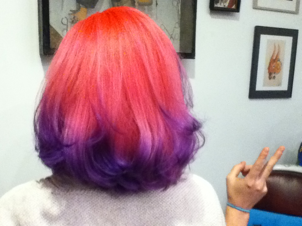 Donna Rae custom mixed 3 different pinks and purples to come up with this candy confection. Cut and Color by Donna Rae