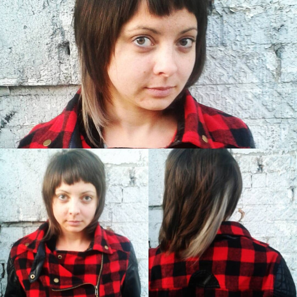 Maria Lina did a #shag and bleached #panel on this rocking client #drycut