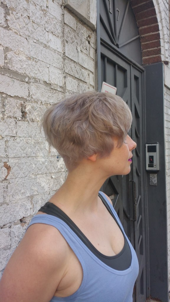 Soft and feminine short cut. Double process using Redken Shades Eq by Donna Rae