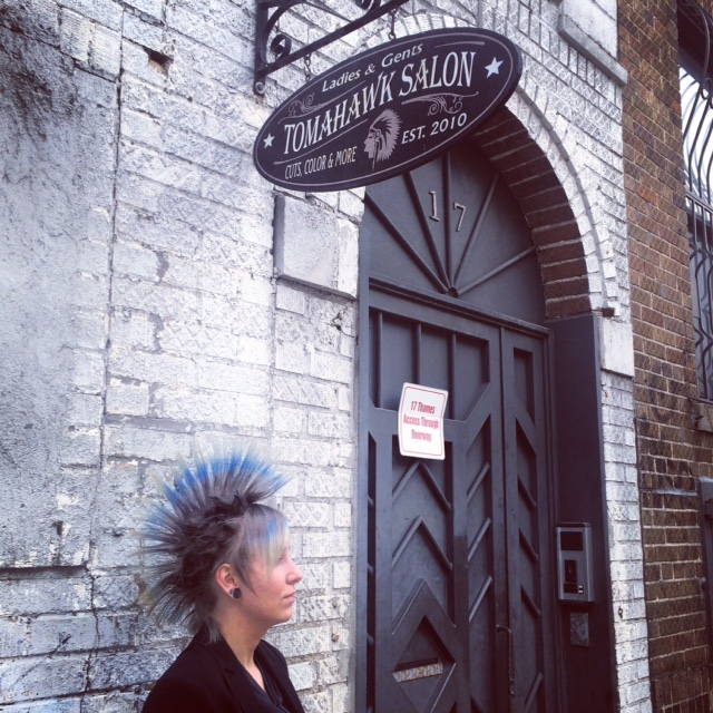 Natalia and her client worked together to create this mind blowing #mohawk
