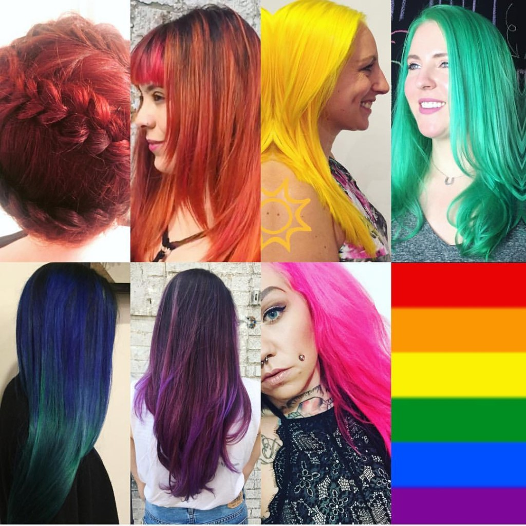 Kristin's color work as LGBT flag. Let your flag fly high!