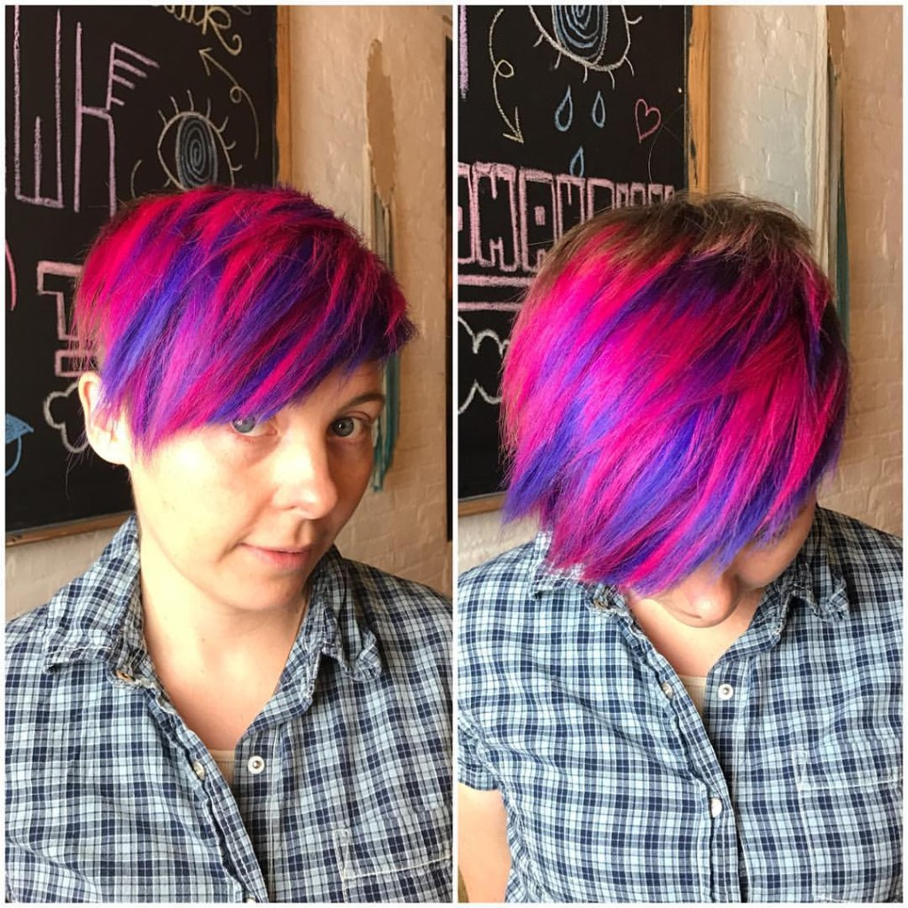 This mom of 2 said to hell with it i'm going to SHINE ON! Cut and color by Kristin Jackson using Kenra Neons