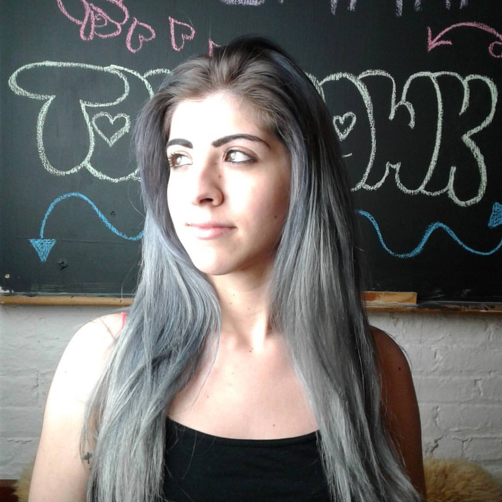 Natalia Michele kept a natural root and blended several shade gray to achieve this multidimensional look.
