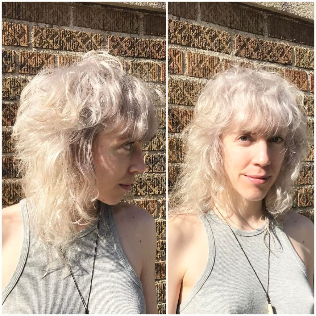 double process blonde shag