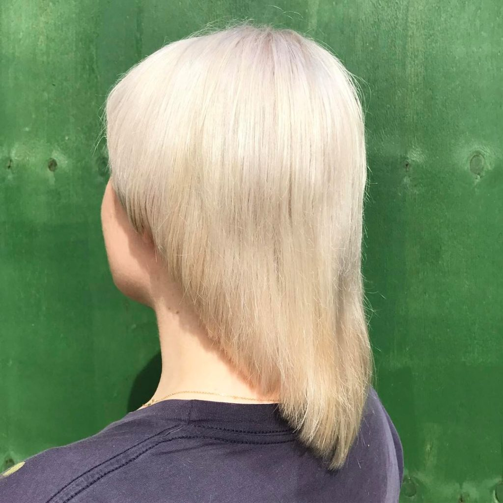 double process blonde precision cut