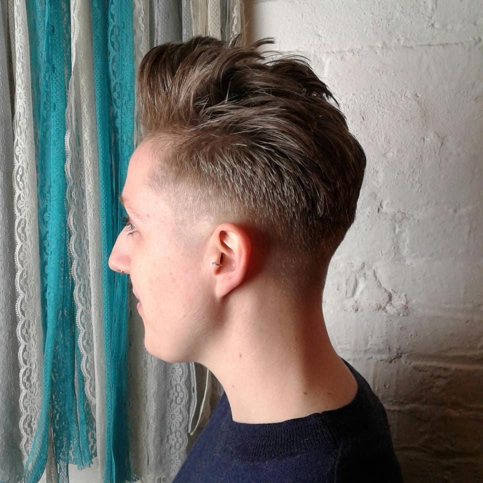 Barber cut fade