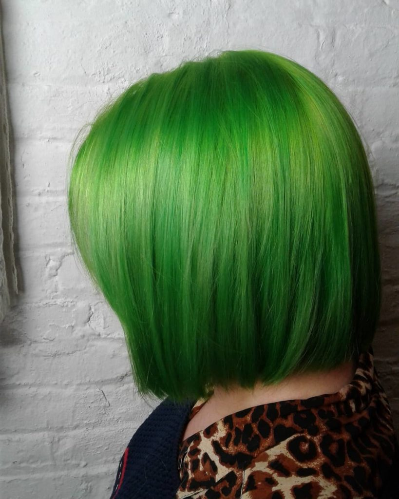 Electric green bob
