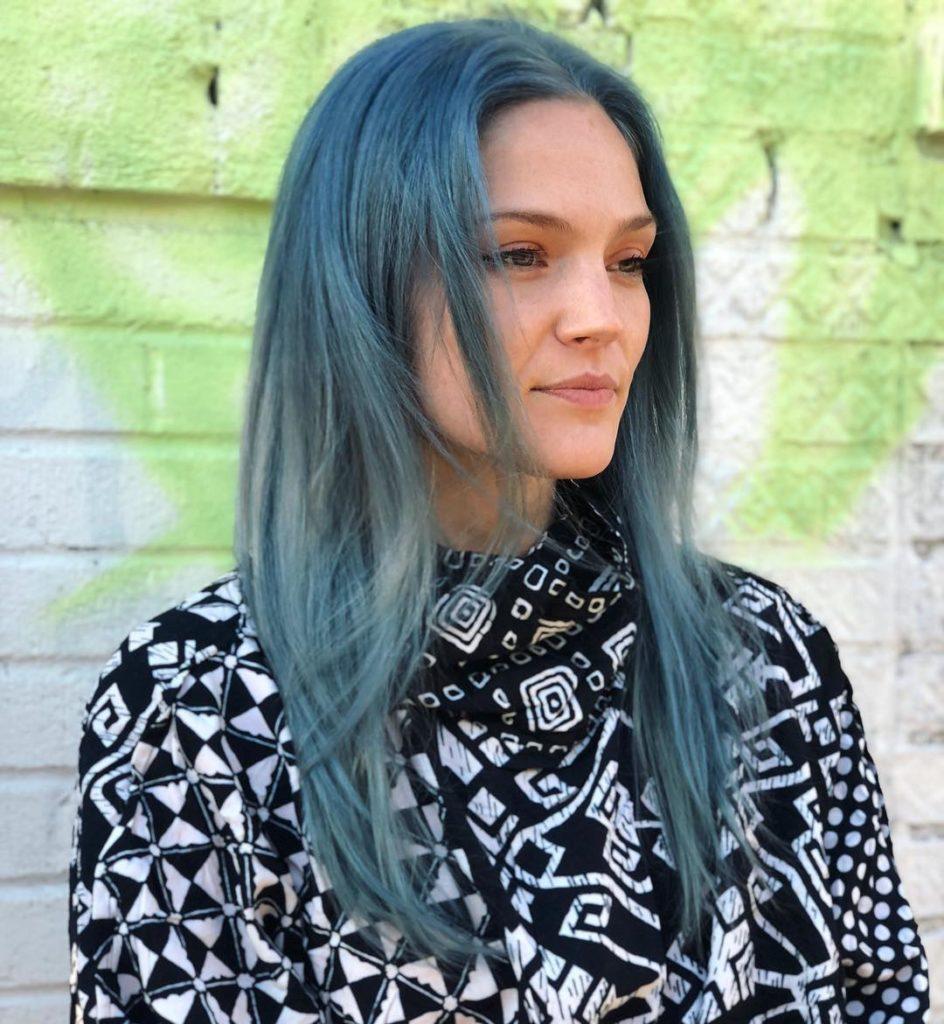 Grungy blue