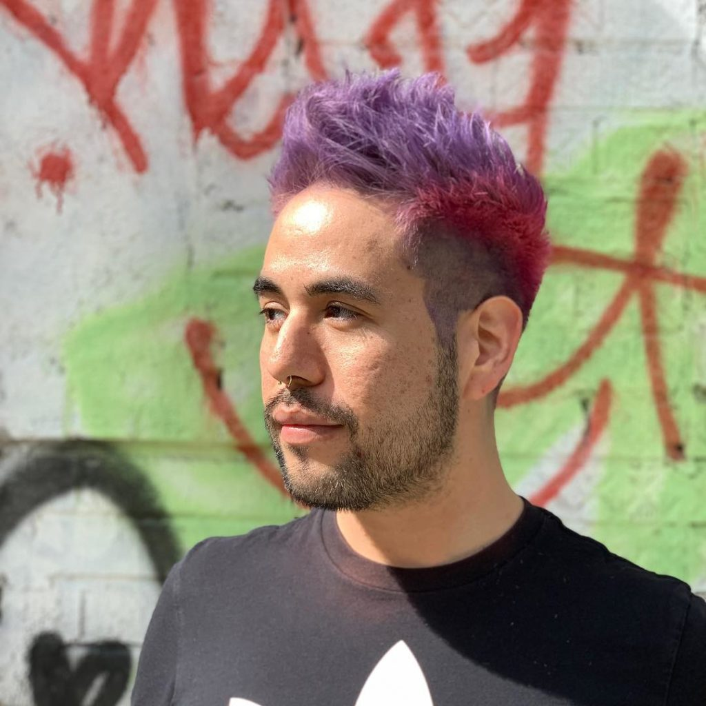 pink/lavender profile hair