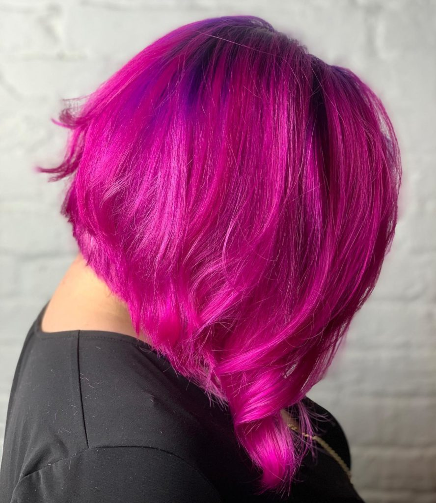 color melt purple into fuchsia