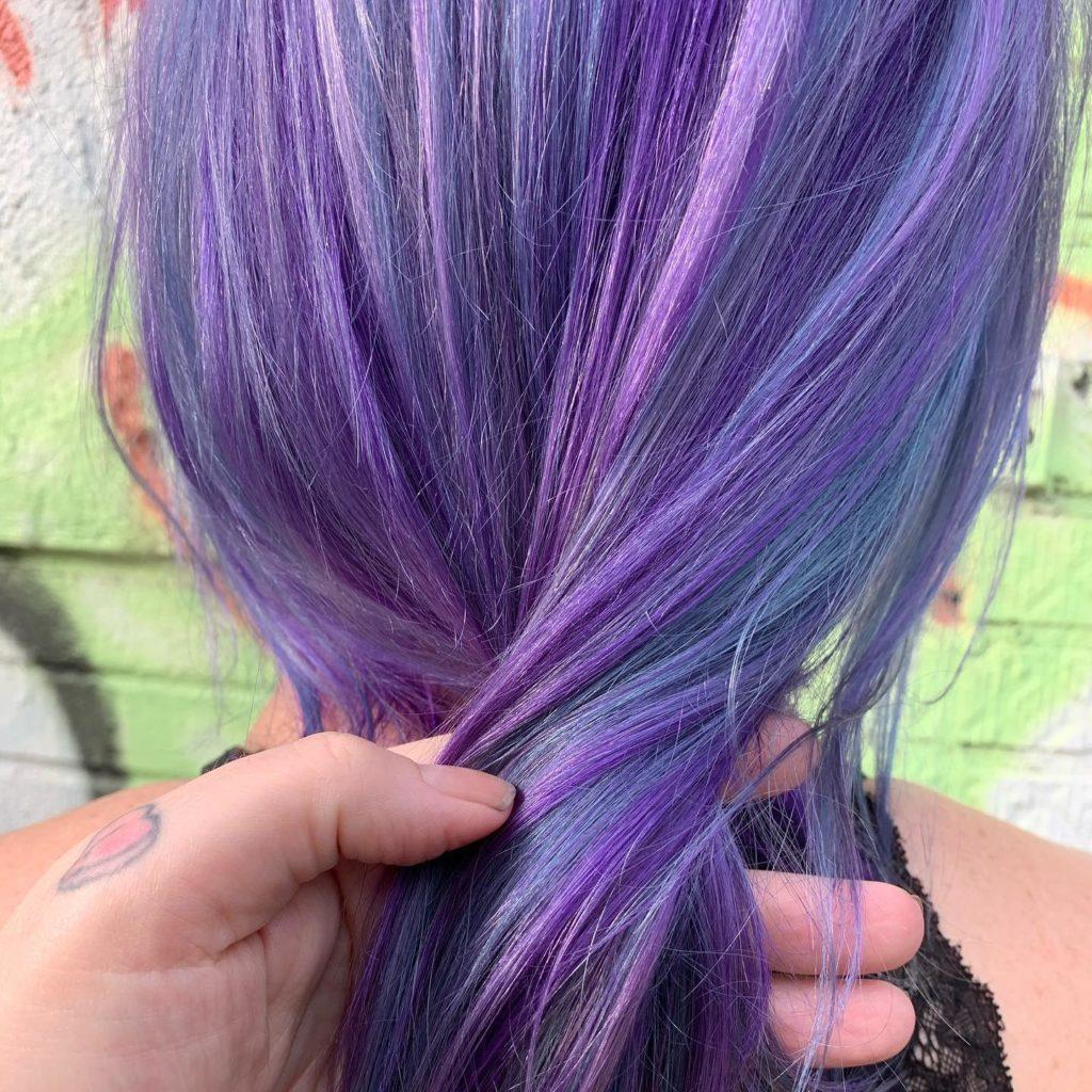 details lavender hair