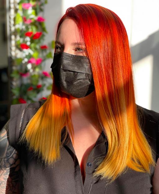 Flame hair