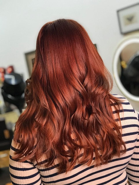Audburn hair
